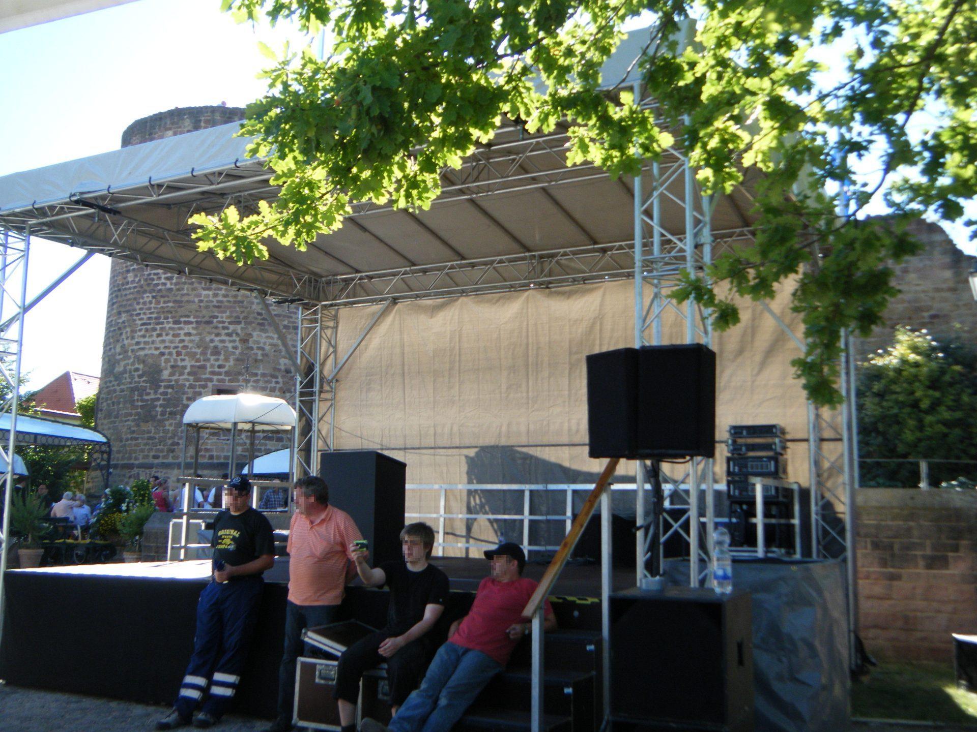 Bühne 7m x5m