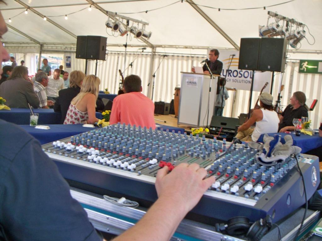 Firmenveranstaltung Liveband, Redner