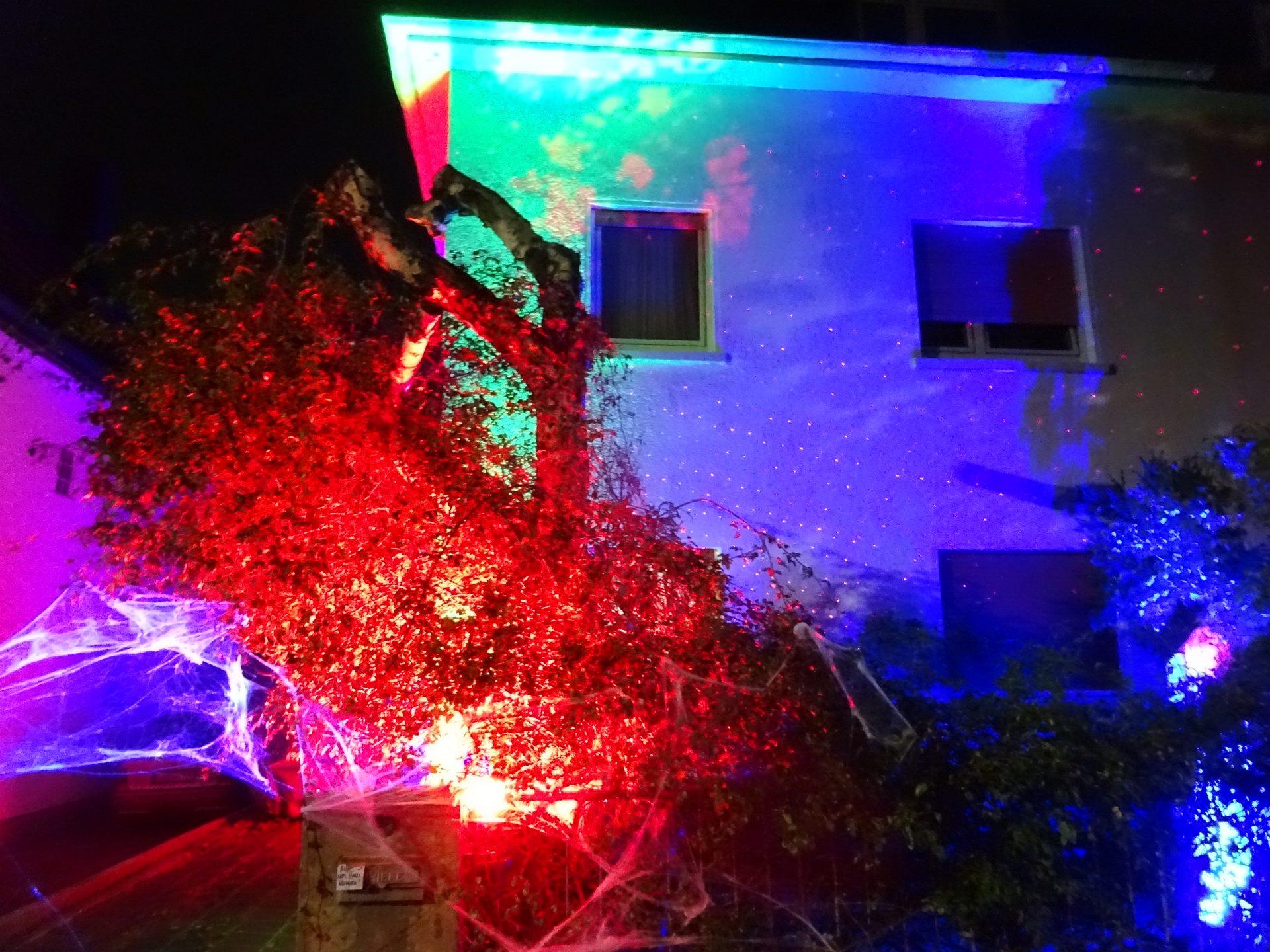 Halloween Hausbeleuchtung