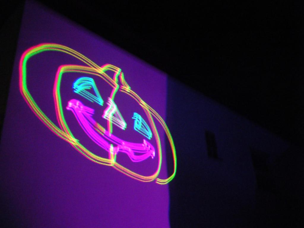 Laser Kürbis Projektion für Halloween-Fenster