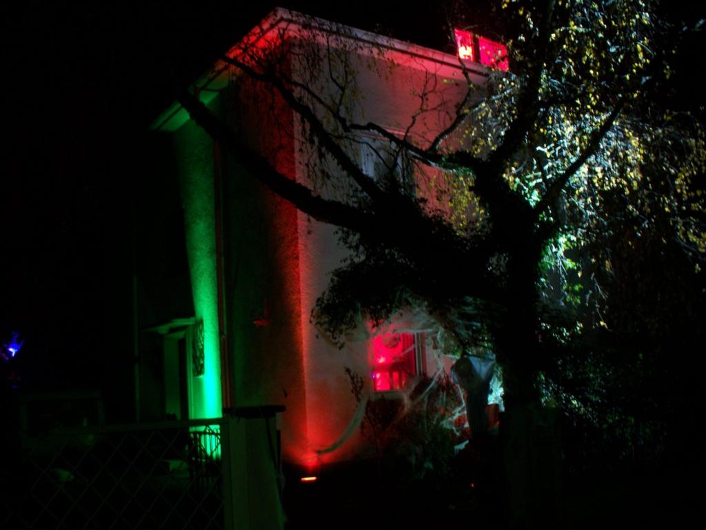 Halloween-Hausbeleuchtung