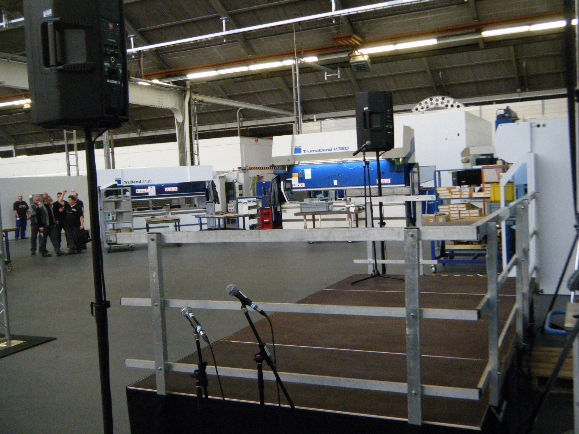 Indoorbühne Firmenpräsentation