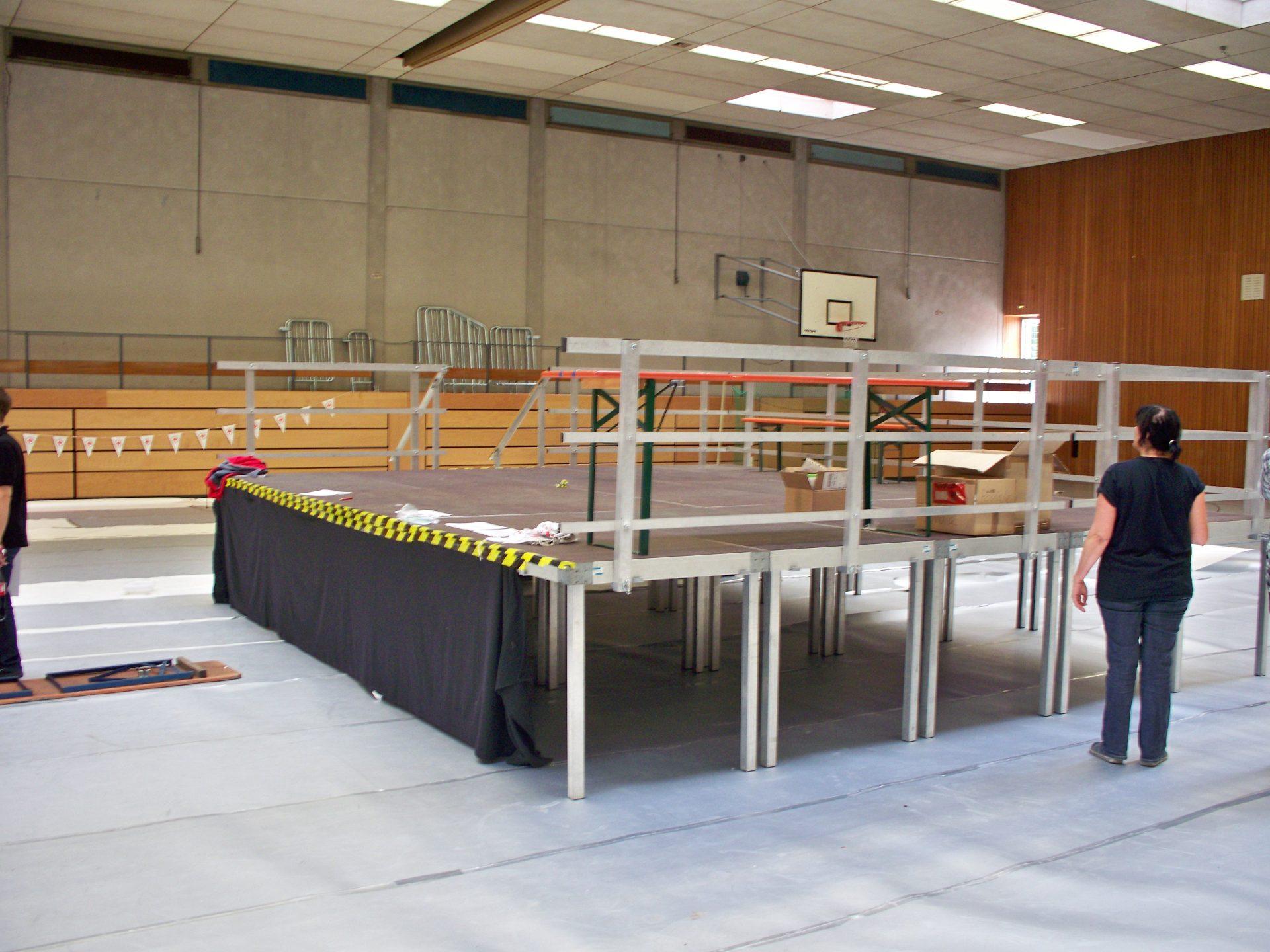 Indoorbühne Sporthalle