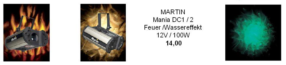 Martin DC1 DC2 Feuereffekt Wassereffekt