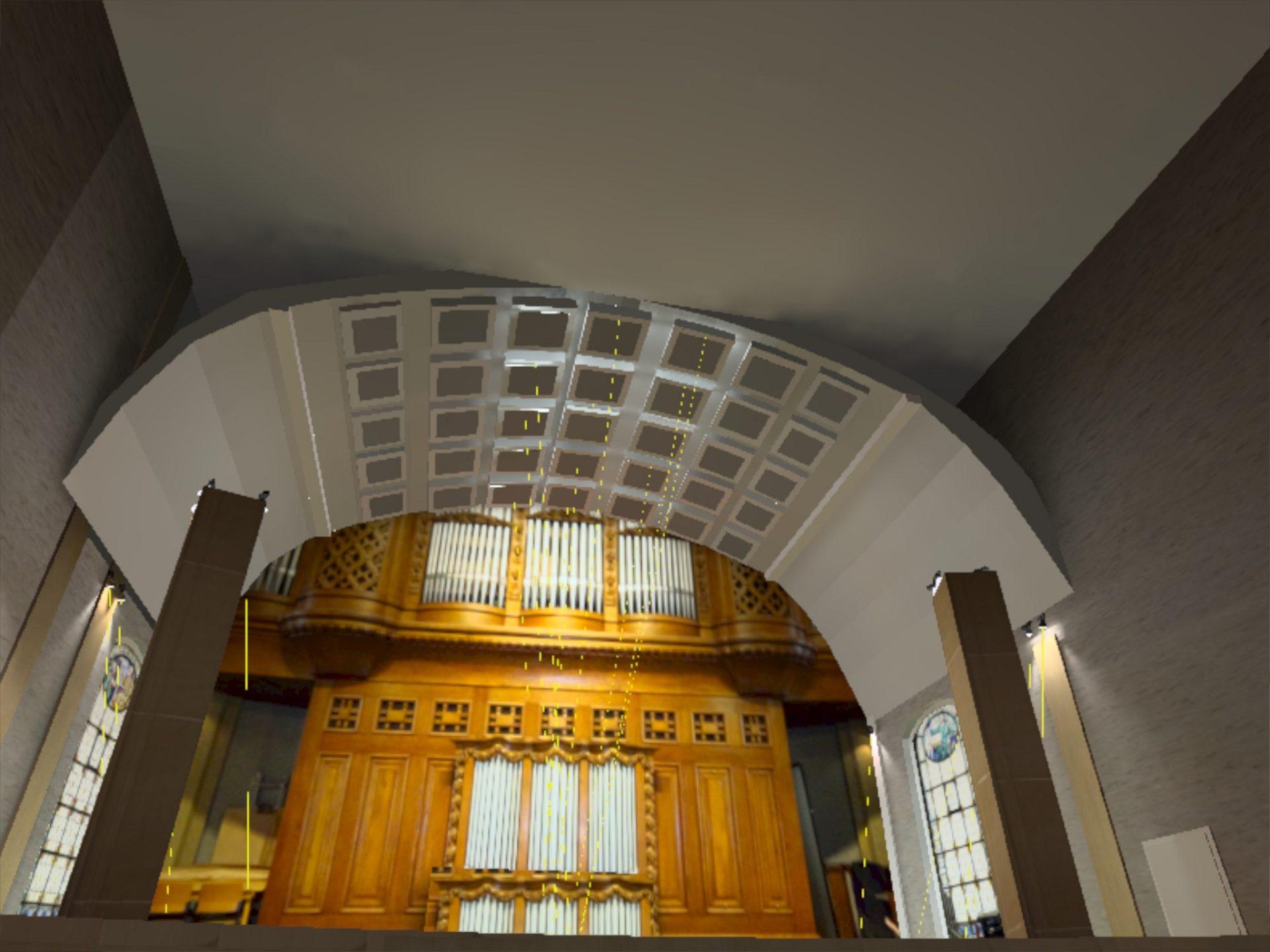 Lichtplanung Orgelempore Chorempore