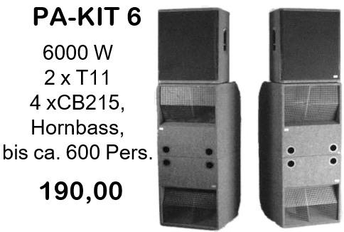 Pa-Kit 6, 6000W