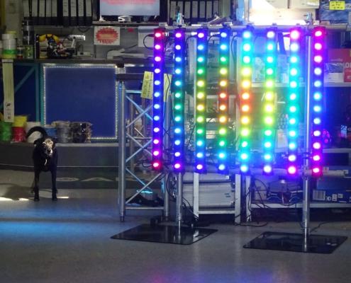 LED Pixelbar Matrix mit Legs