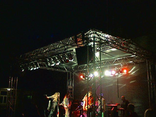 Bühne 7m x 5m Schulband