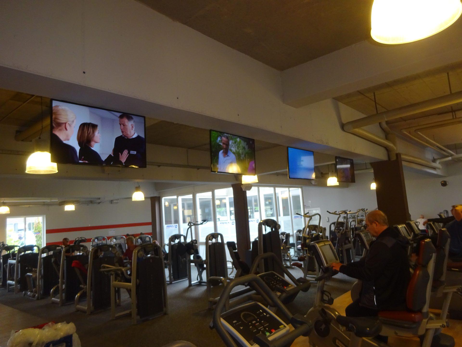 TV Installation Fitnesstudio