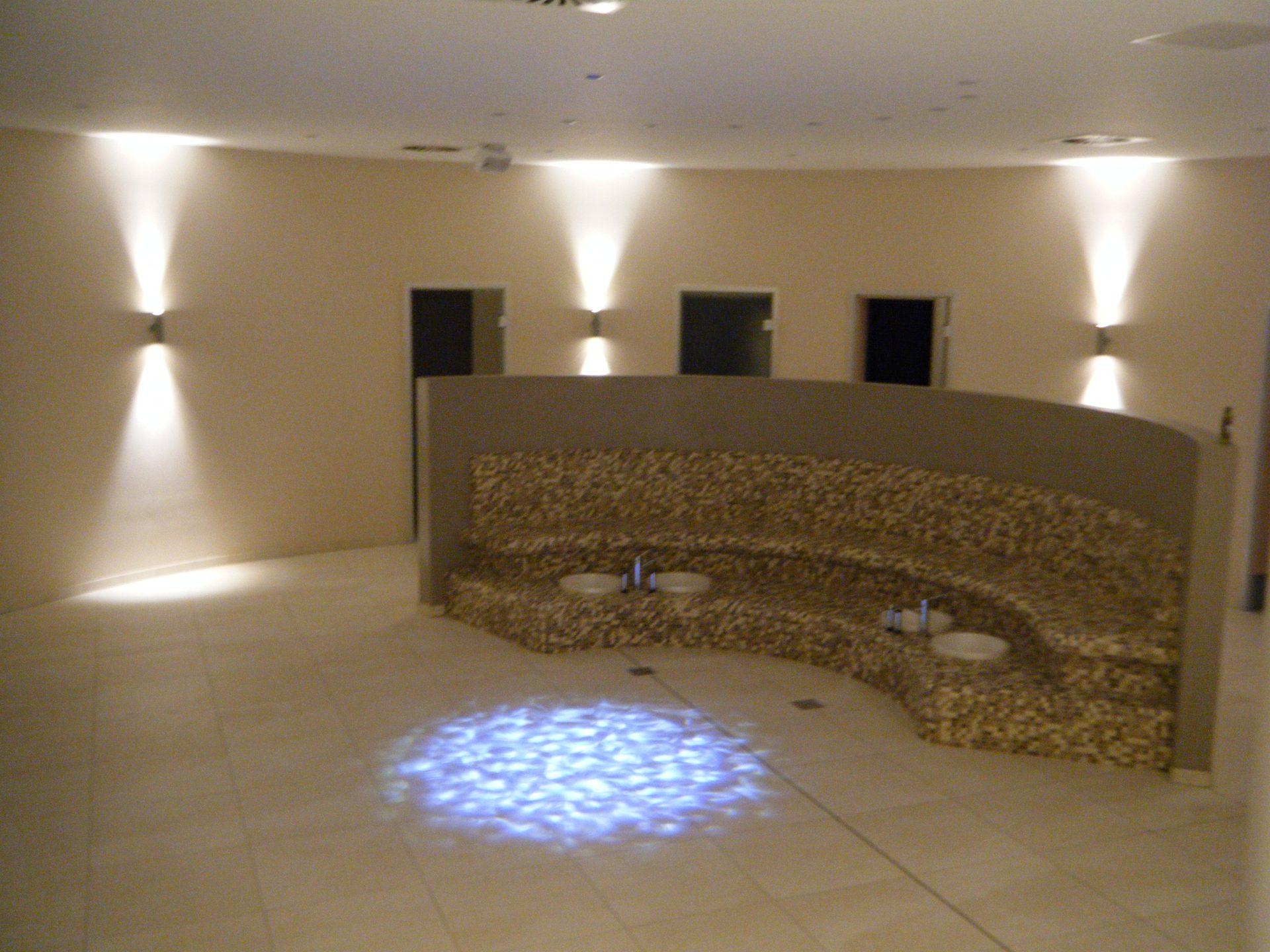 Wassereffekt Sauna Ruheraum