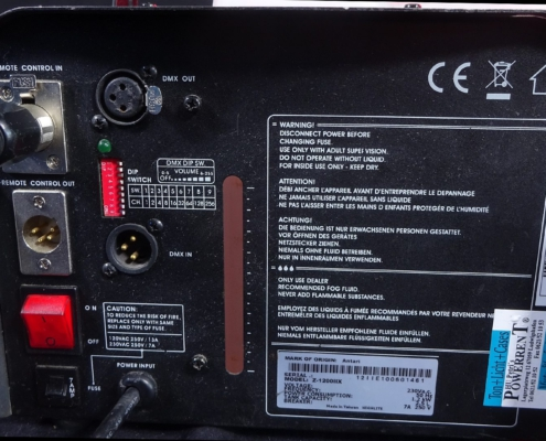 Antari Z1200 Nebelmaschine Buchsen