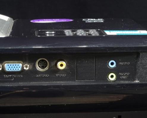 Benq MP525P Buchsen