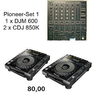 Pioneer Set 1 -DJM600-CDJ850