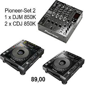 Pioneer Set 2 -DJM850-CDJ850