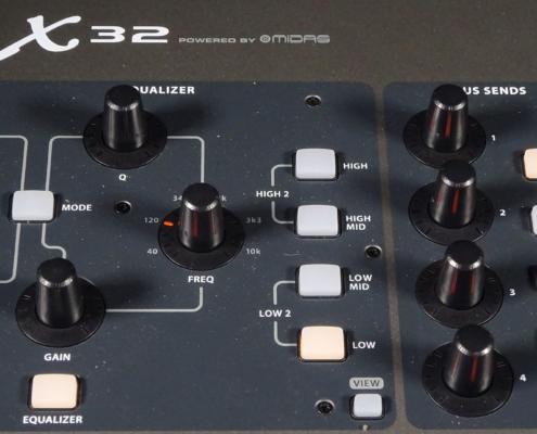 Behringer X32 Fullsize EQ Section