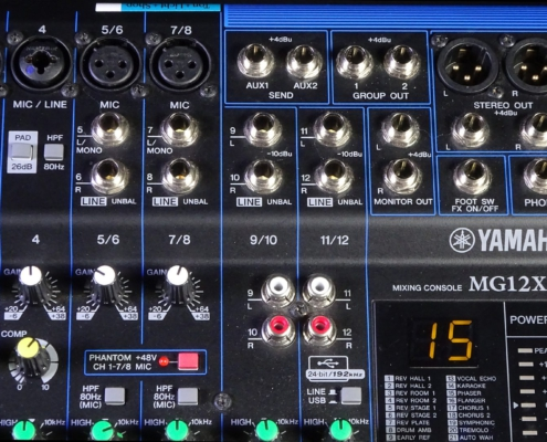 Yamaha MG12XU Outputs