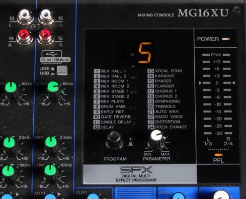 Yamaha MG16XU Effekt