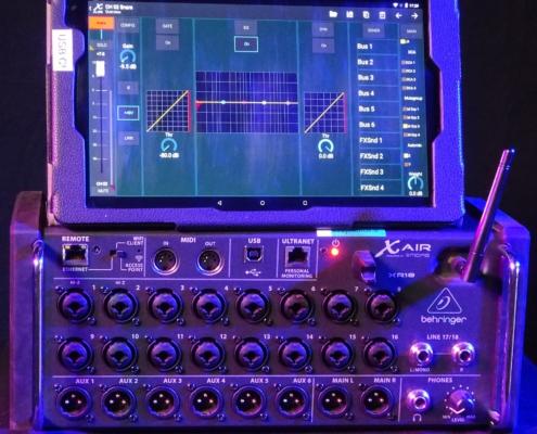 Behringer XR18 Tablet Dynamics