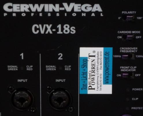 CerwinVega CVX18S Inputs