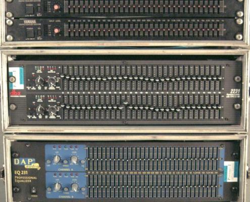 EQs Yamaha dbx dap Front