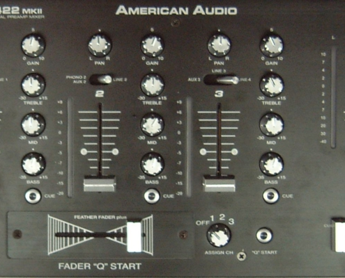 ADJ Q2422 DJ Mixer Front