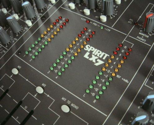 Soundcraft LX7 Meter