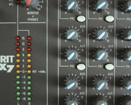 Soundcraft LX7 Aux-Input