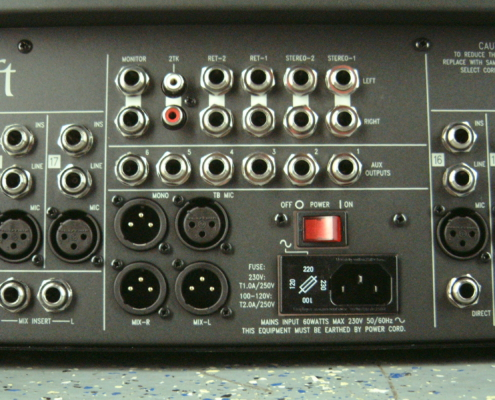 Soundcraft LX7 Master Output