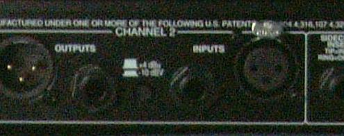 dbx 166xl Compressor Rückseite