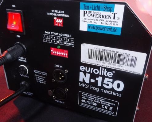 Eurolite N-150 Nebelmaschine Rückseite