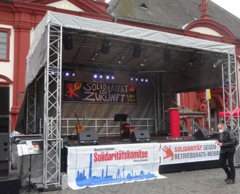 Bühne Gewerkschaftskundgebung