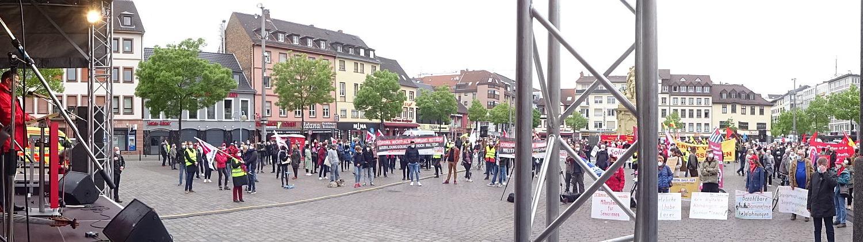 1.Mai Kundgebung Marktplatz Mannheim