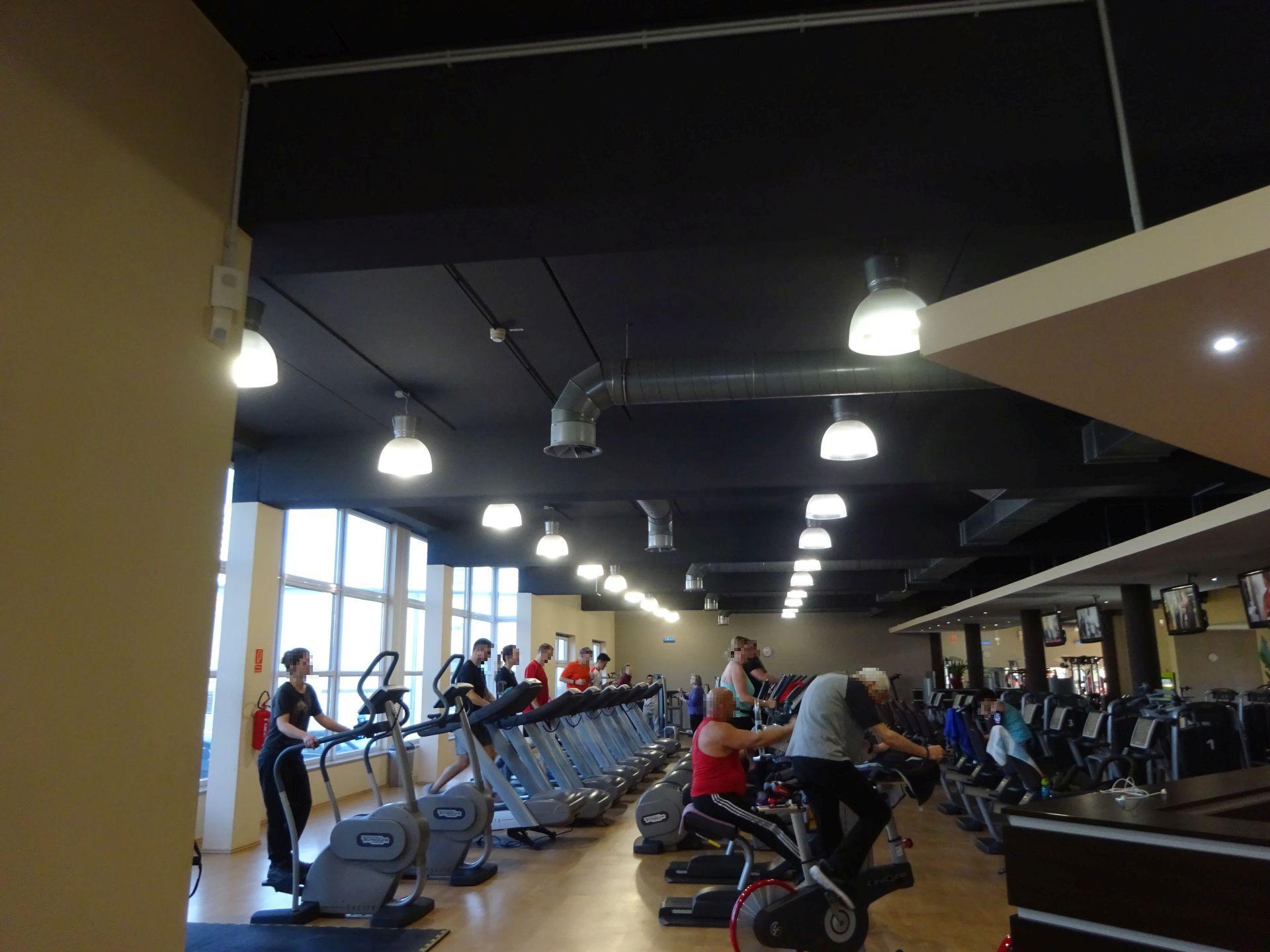 Retrofit LED Tausch im Fitness-Studio