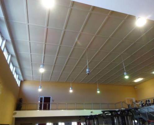 Retrofit LED Tausch Fitness-Studio