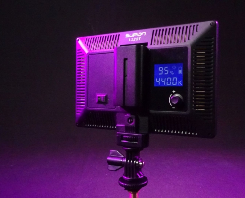 Akku-Kameralicht Rückseite