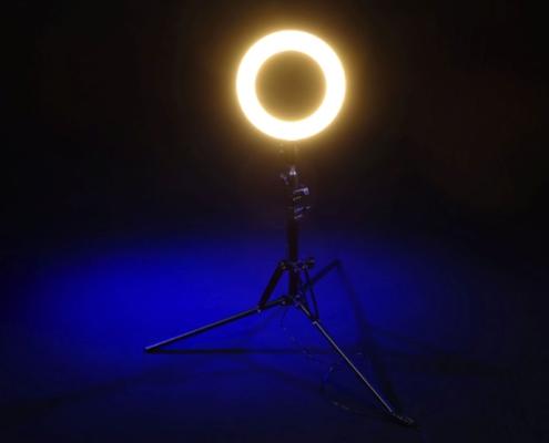 Ringlight 10 Zoll Warmweiss1