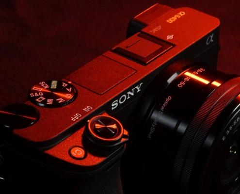 Sony A6400 Front Auslöser C1 Knopf