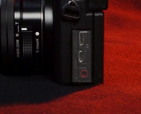 Sony A6400 Buchsen HDMI-USB-Mic