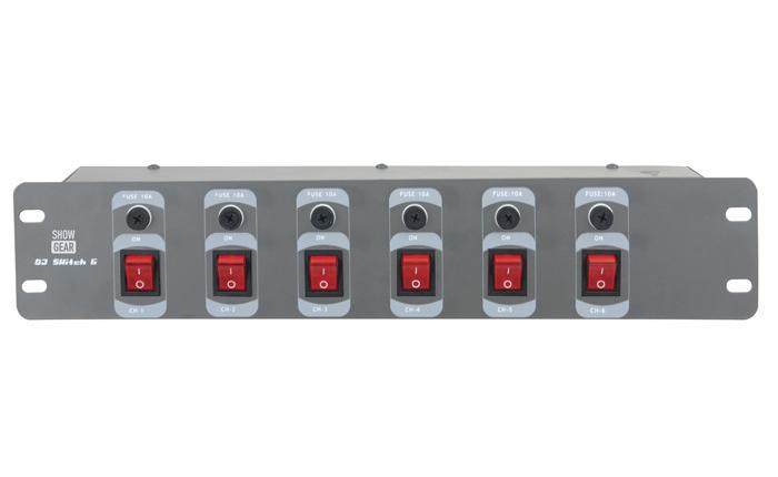 Switchboard 6-Fach Vorderseite