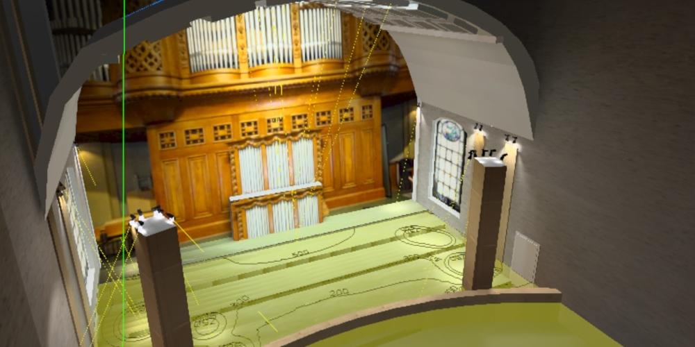Lichtplanung Orgel Empore