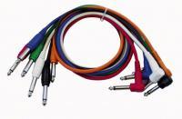 Mono Patch Kabel 90 cm Gerade+Winkel Stecker Six Colour Pck