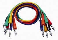 Mono Patch Kabel 60cm - Gerade Stecker Six Colour Pack