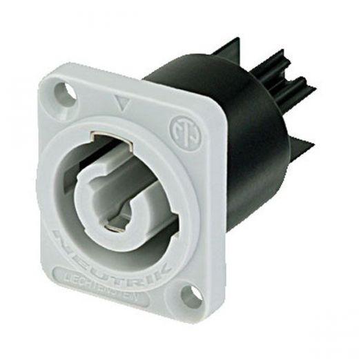 Neutrik Powercon Einbaudose Output (Grau) NAC-3MPB1