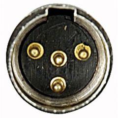 N-CON Mini XLR Stecker 4 Pole Nikkel Male mit schwarz Endcap