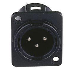 DAP XLR Einbaustecker 3 Pol schwarz Male