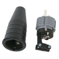 Gummistecker 230V, IP44, farbig