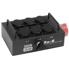 Showtec BO-6-PW Break-out Box CEE 16A 5 Pint to 6 Schukos (