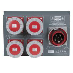 SHOWTEC PSA-125A4C Stromverteiler 4 x MCB, CEE Ausgang