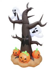 EUROPALMS Aufblasbare Figur Spukbaum, 240cm Aufblasbarer Baum mit Geistern und Kürbissen