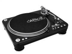 Omnitronic DD-5220L Plattenspieler sw Direktgetriebener DJ-Plattenspieler Ultra Torque mit Phono-/Line-Umschaltung